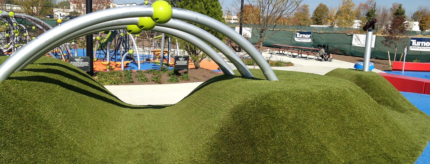 A safe playground experience when you choose Playground Grass from ForeverLawn of Ohio