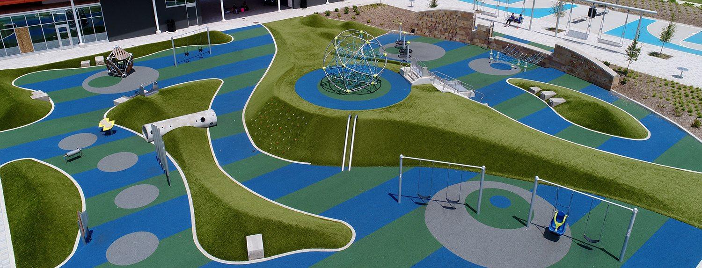 Tarkington Park with Playground Grass